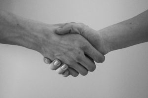 Hand shaking agreement