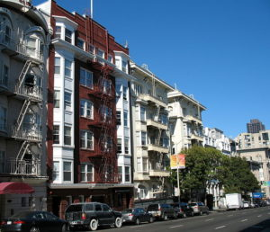 Apartment buildings in San Francisco