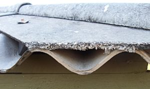 Roofing with asbestos