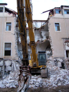 apartment being demolished